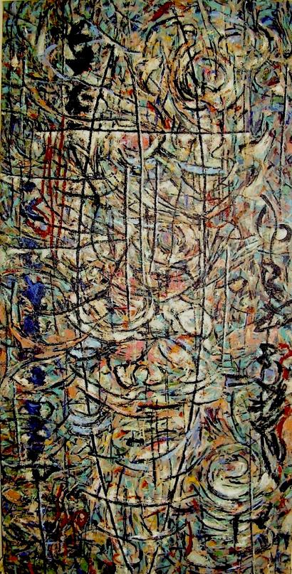 Patti Trimble Genius Loci 1985 approx. 6' x 3'