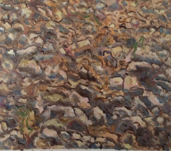 dirt painting 2 7x8