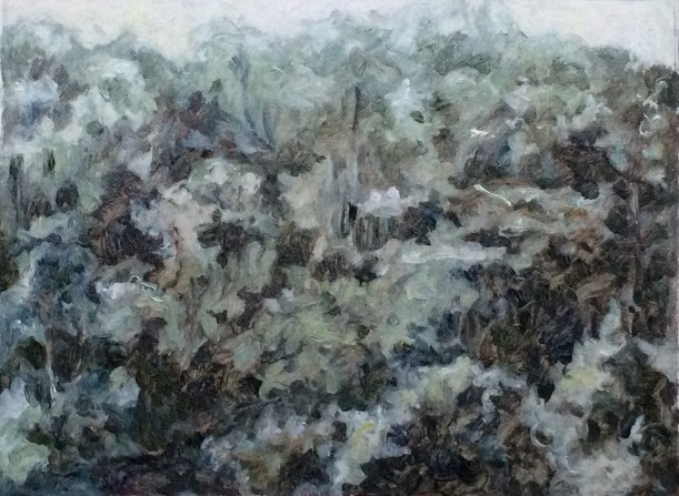 forest painting 2 7x8