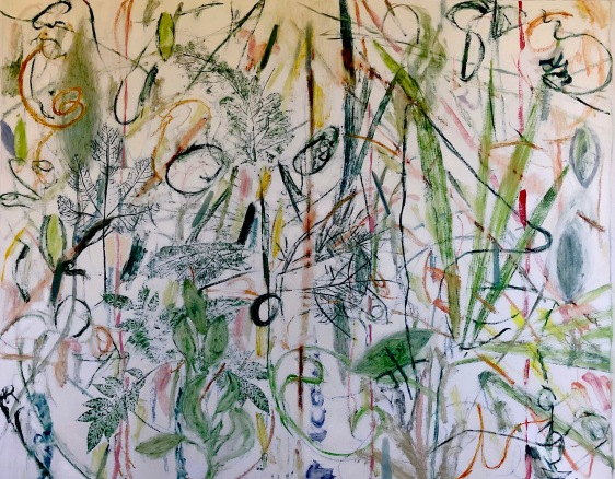 Patti Trimble-Shelterin-in Garden #8-oil on linen-40x50-2020